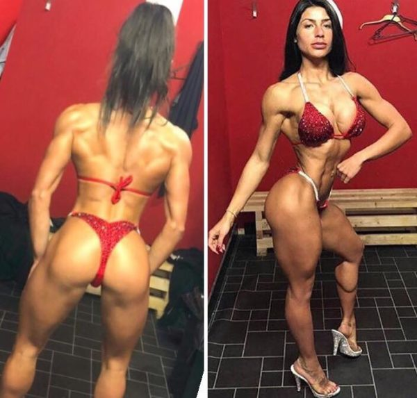 2bros events red competition bikini style