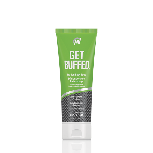 Pre-Tan Body Scrub and Skin Balancing Exfoliator - get buffed pro tan product.