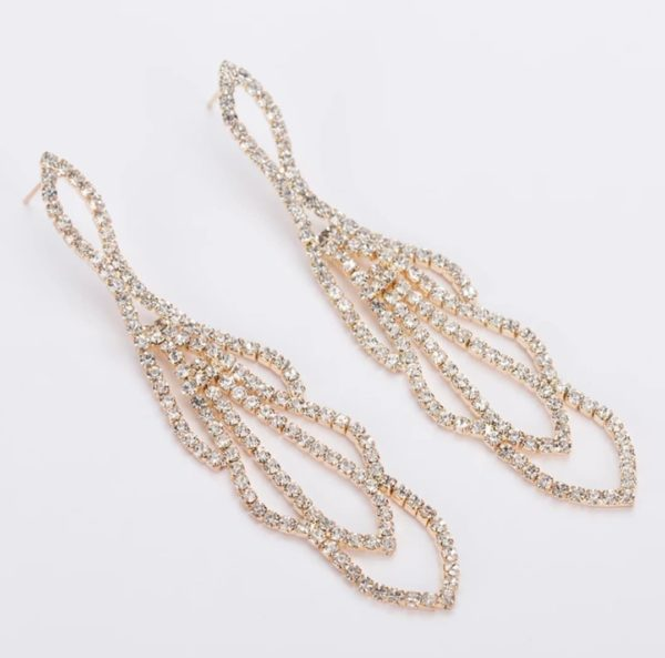 gold competition earrings