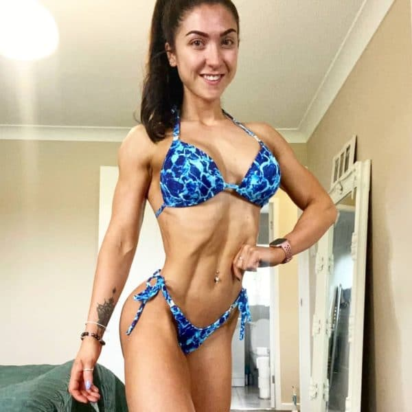 COMPETITION BIKINI FOR POSING WITH ADJUSTABLE STRAPS